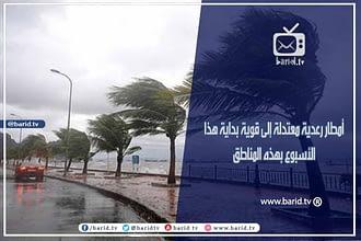 Photo of أمطار رعدية معتدلة إلى قوية بداية هذا الأسبوع بهذه المناطق